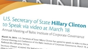 U.S. Secretary of State to address the AGM via video