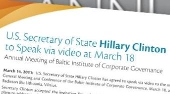 U.S. Secretary of State to address the AGM via video