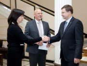 Prime Minister Valdis Dombrovskis hosted  BICG graduation for Government officials
