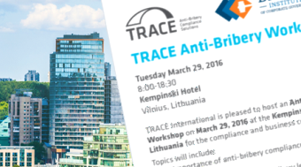 Anti-Bribery Workshop in Vilnius