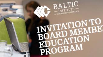 Invitation to Board Member Education, May 2016
