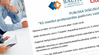 Invitation to a public discussion on Supervisory Councils of SOEs in Latvia