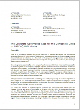 The Corporate Governance Code for the Companies Listed on NASDAQ OMX Vilnius